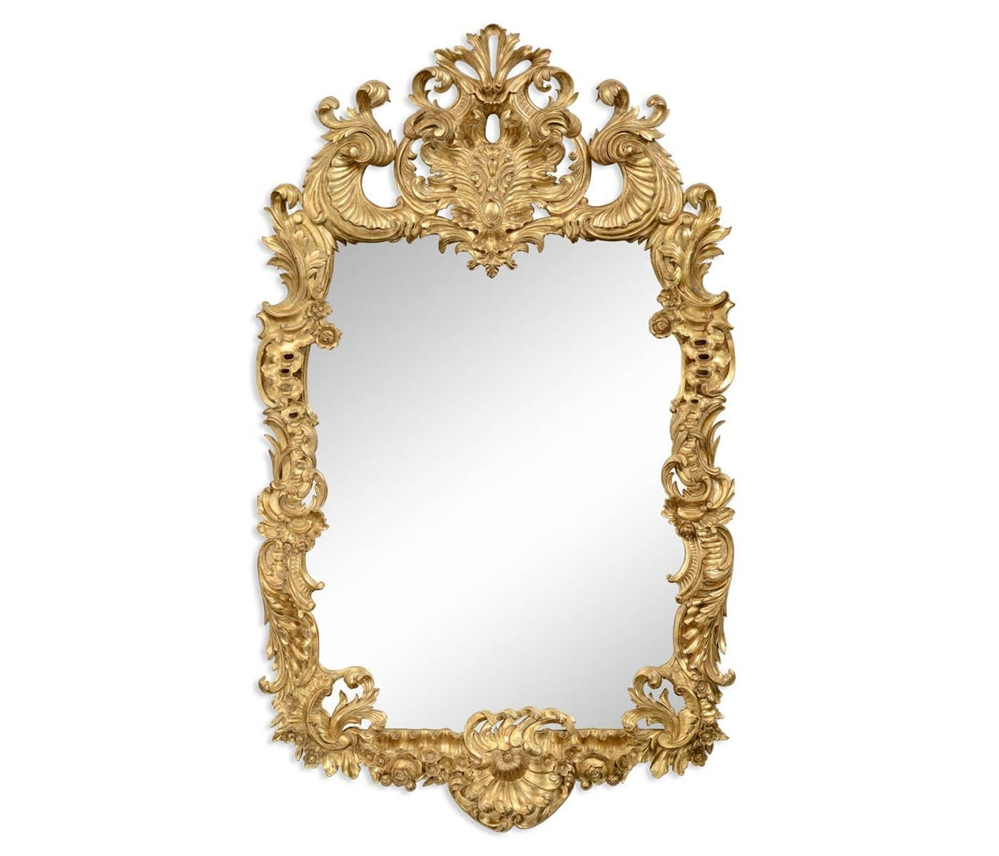 Carved Gold Rococo Style Mirror | Swanky Interiors Intended For Gold Rococo Mirror (Image 9 of 20)