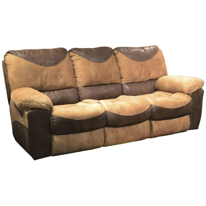 Catnapper Portman Reclining Sofa In Saddle And Chocolate In Catnapper Reclining Sofas (View 20 of 20)
