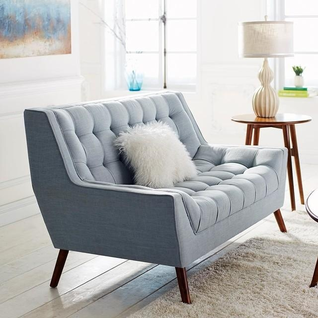 Cece Loveseat – Modern – Living Room – Dallas  Pier 1 Imports Within Pier 1 Sofa Beds (Image 10 of 20)