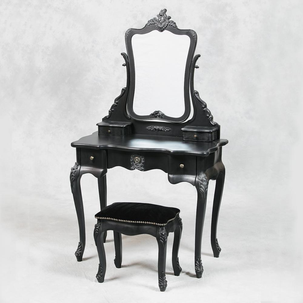 Ceiling: Charming Vanity Table With Mirror For Home Furniture Within Black Dressing Mirror (Image 13 of 20)