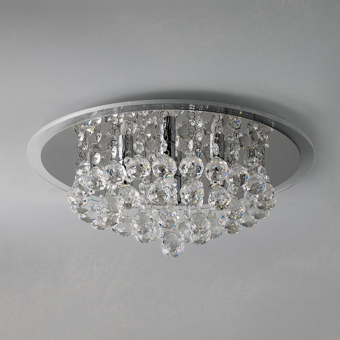 Ceiling Light Buy John Lewis Belinda Flush Ceiling Light Chrome With Regard To Flush Chandelier Ceiling Lights (Image 5 of 25)
