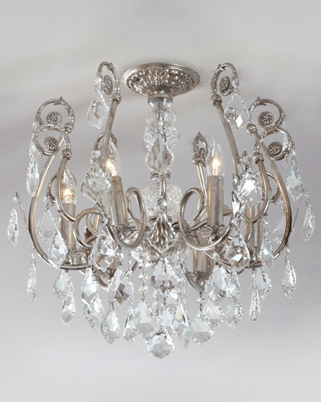 Ceiling Lights Ceiling Light Fixtures Horchow With Regard To Wall Mount Crystal Chandeliers (View 9 of 25)