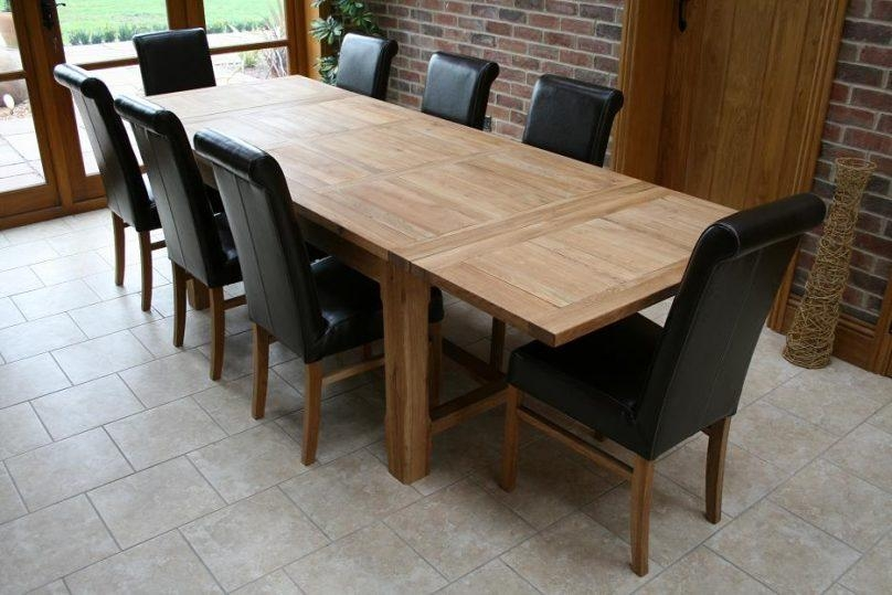Chair 12 Seat Dining Table And Chairs | Uotsh Within 8 Seater Oak Dining Tables (Image 5 of 20)