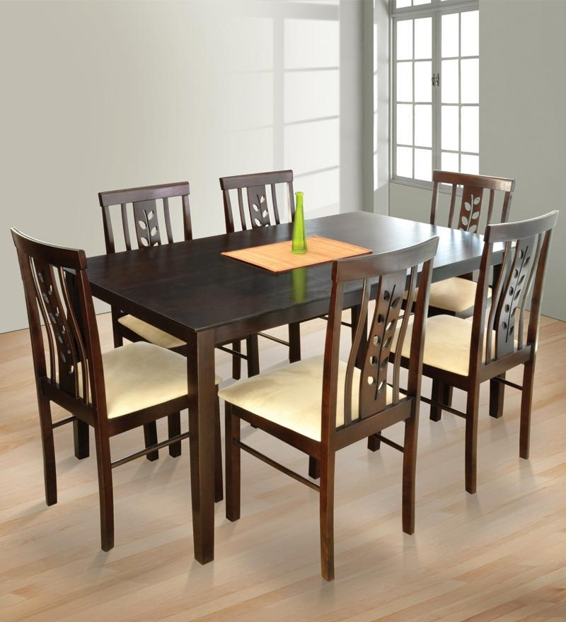 Chair 6 Seater Dining Table And Chairs Uk Only | Uotsh With Glass 6 Seater Dining Tables (Photo 17 of 20)