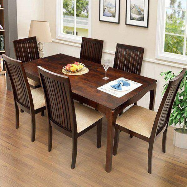 Chair 6 Seater Dining Table And Chairs Uk Only | Uotsh Within Six Seater Dining Tables (View 3 of 20)