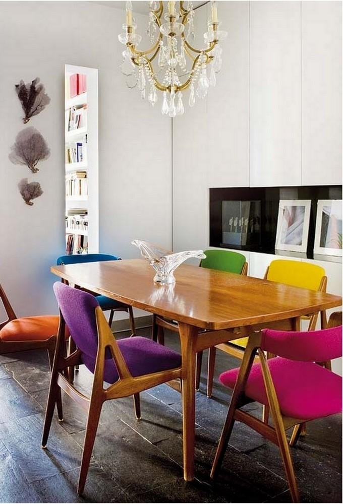 Chair Coloured Dining Tables And Chairs | Ciov Regarding Colourful Dining Tables And Chairs (Image 9 of 20)