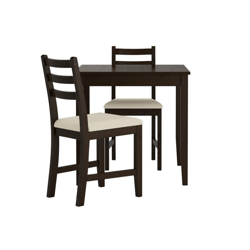 Chair Dining Room Sets Ikea 2 Seater Oak Table And Chairs 0248162 Intended For Two Seater Dining Tables (View 15 of 20)