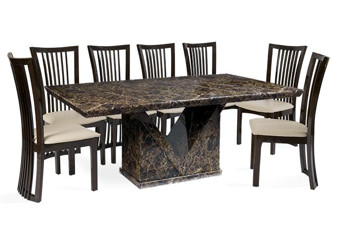 Chair Dining Table And 10 Chairs | Uotsh Within 8 Seater Black Dining Tables (Image 10 of 20)