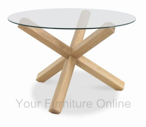 Chair Dresden 54 Round Glass Cherry Oak Dining Table Set And 8 For Round Glass And Oak Dining Tables (View 19 of 20)