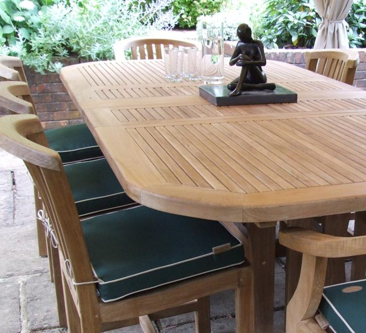 Chair Garden Dining Table And Chairs | Uotsh Pertaining To Extending Outdoor Dining Tables (Image 9 of 20)