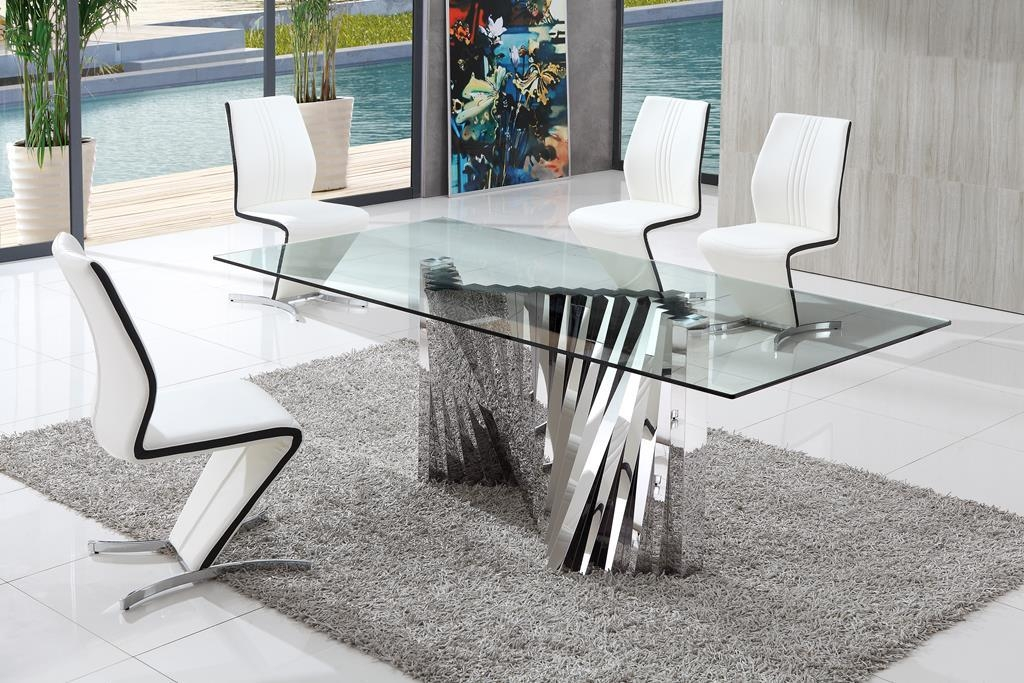 Chair Glass Dining Table And Chairs Clearance | Uotsh With Glass Dining Tables And Chairs (View 2 of 20)