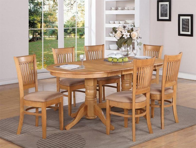 Chair Oak Round Table And 6 Chairs Starrkingschool Chunky Solid Intended For Chunky Solid Oak Dining Tables And 6 Chairs (View 15 of 20)