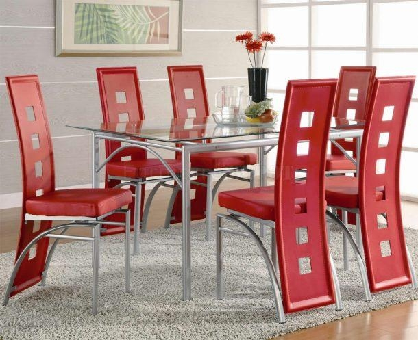 Chair Retro Formica Table Dinette Sets Furniture Retroplanet Com Regarding Red Dining Table Sets (View 20 of 20)