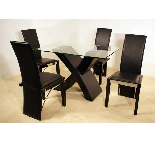 Chair Small Black Dining Table And 4 Chairs | Uotsh Within Beech Dining Tables And Chairs (Image 8 of 20)