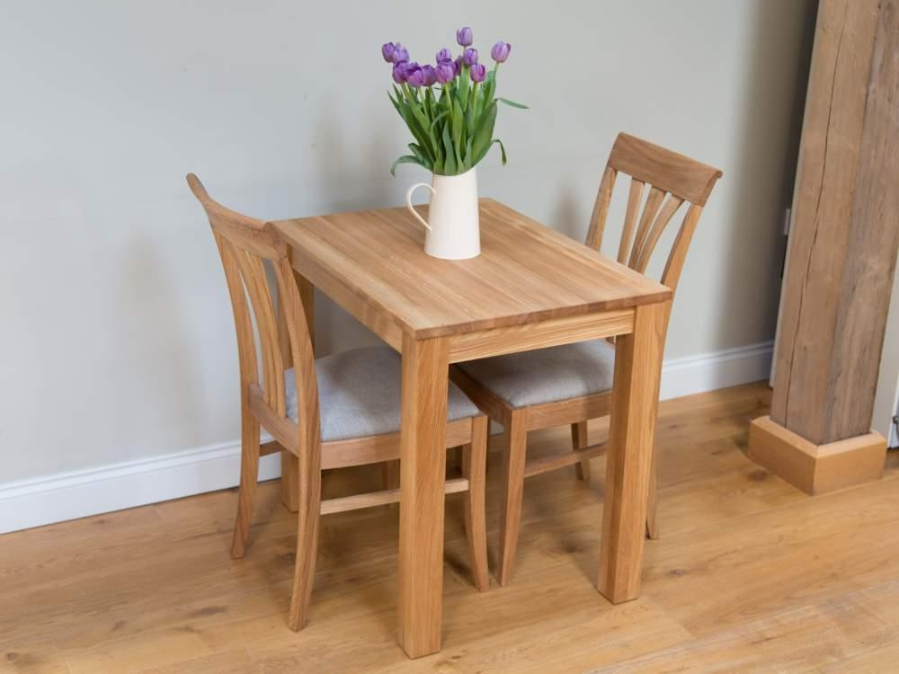 Chair Small Oak Dining Table And 2 Chairs | Uotsh Regarding Small Oak Dining Tables (Image 3 of 20)