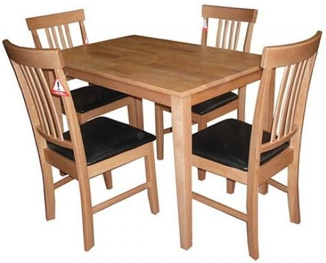 Chair Small Oak Dining Table And Chairs | Ciov Pertaining To Oak Dining Tables And 4 Chairs (View 8 of 20)
