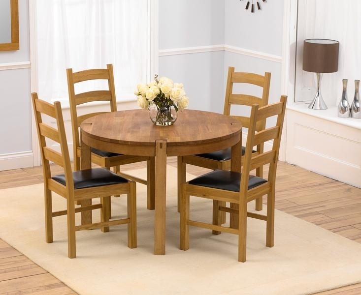 Chair Small Oak Dining Table And Chairs | Ciov Throughout Oak Dining Tables And 4 Chairs (View 3 of 20)