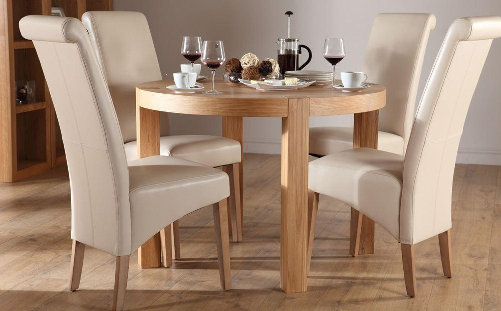 Chair Small Oak Dining Table And Chairs | Ciov With Regard To Oak Dining Tables And 4 Chairs (View 4 of 20)