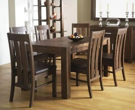 Chair Walnut Dining Table And 6 Chairs | Uotsh Intended For Walnut Dining Tables And Chairs (Image 6 of 20)
