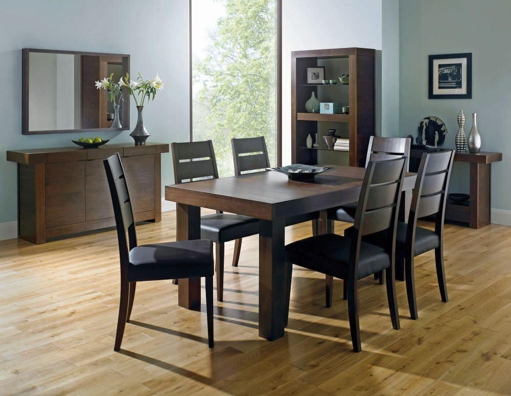 Chair Walnut Dining Table And 6 Chairs | Uotsh Pertaining To Walnut Dining Table And 6 Chairs (Image 6 of 20)