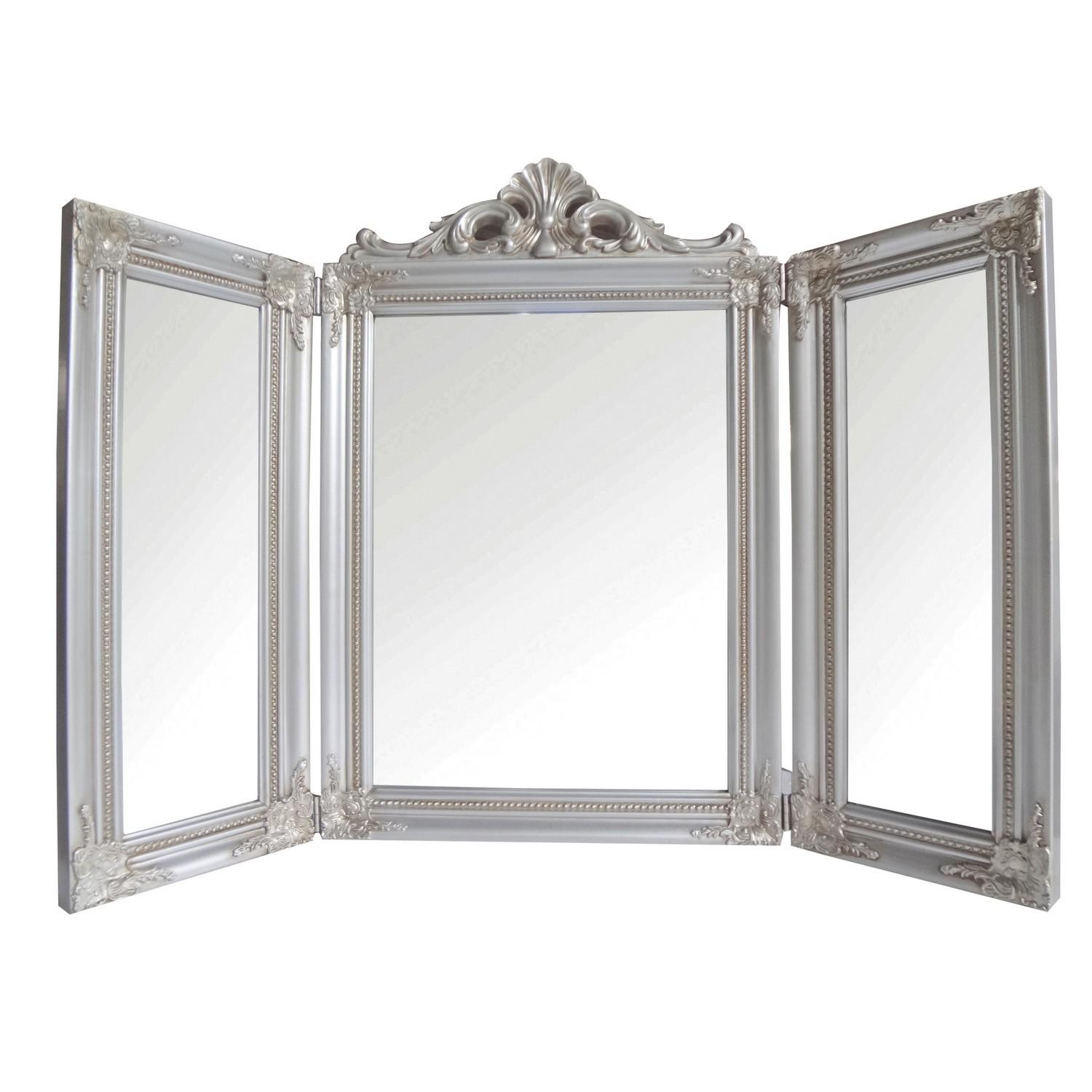 Champagne Dressing Table Mirror In Dressing Table Mirrors (View 16 of 20)