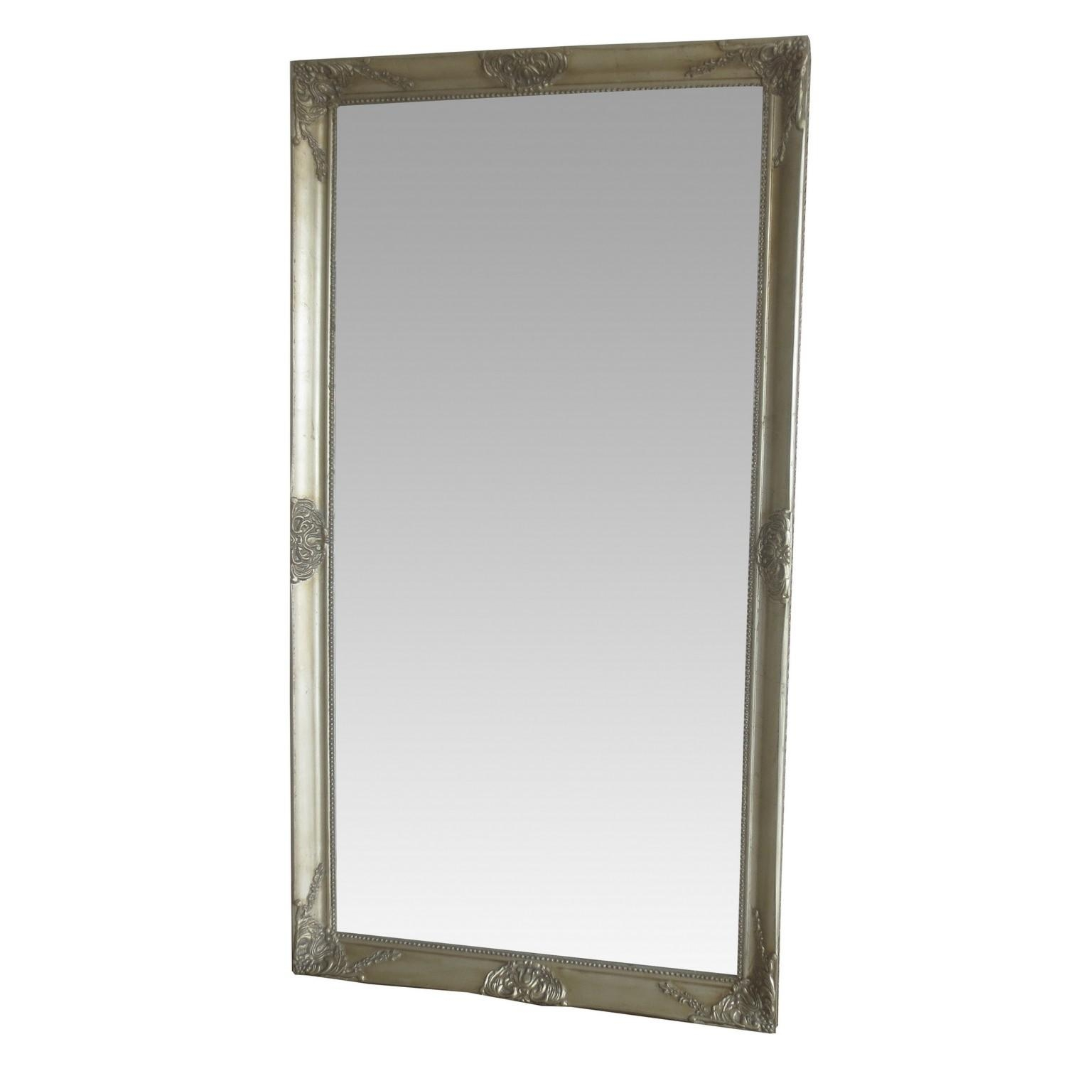 Champagne Lean To Mirror Intended For Full Length Ornate Mirror (Image 4 of 20)