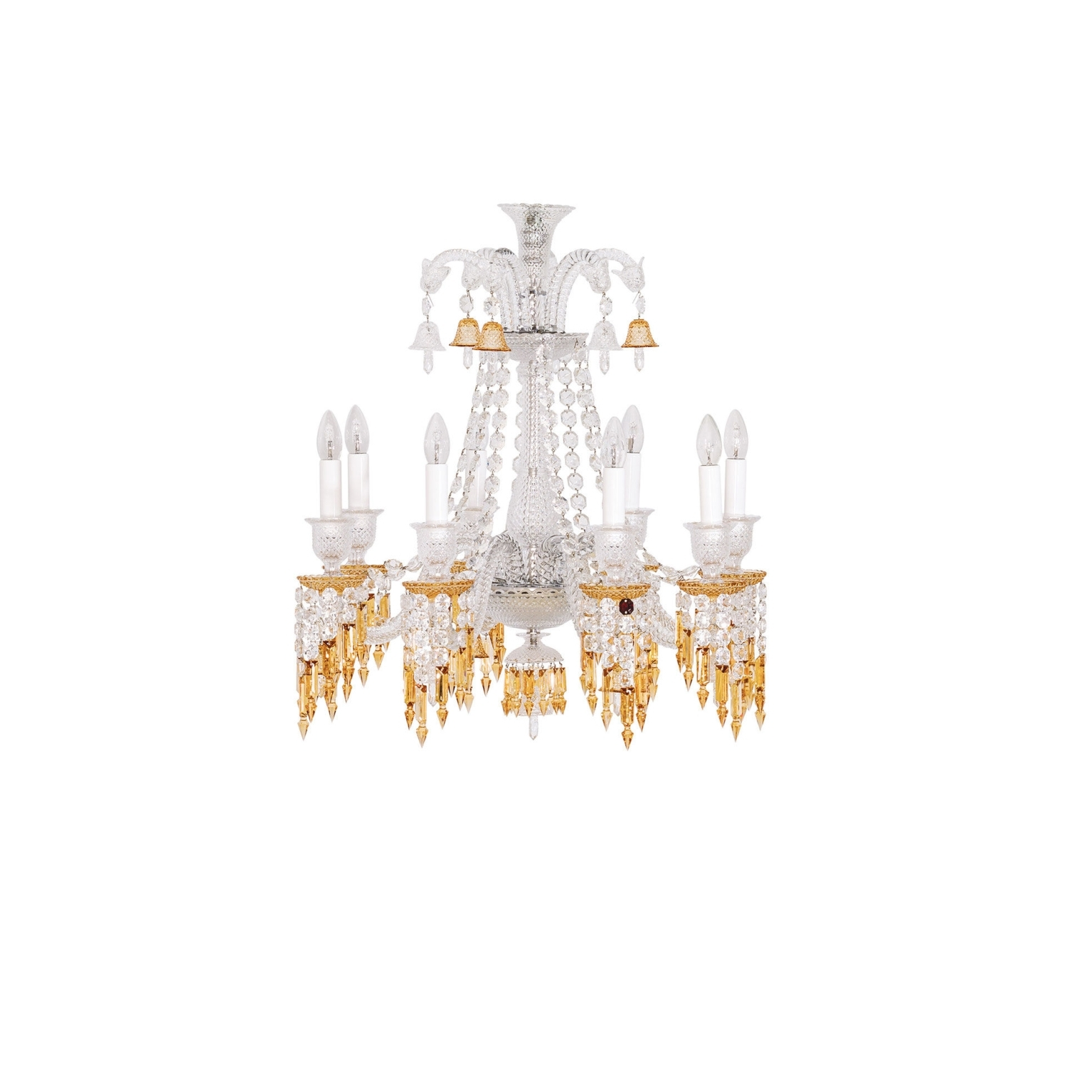 Chandelier 8l Baccarat Zenith Charleston 2809404 Throughout Short Chandeliers (Image 7 of 25)