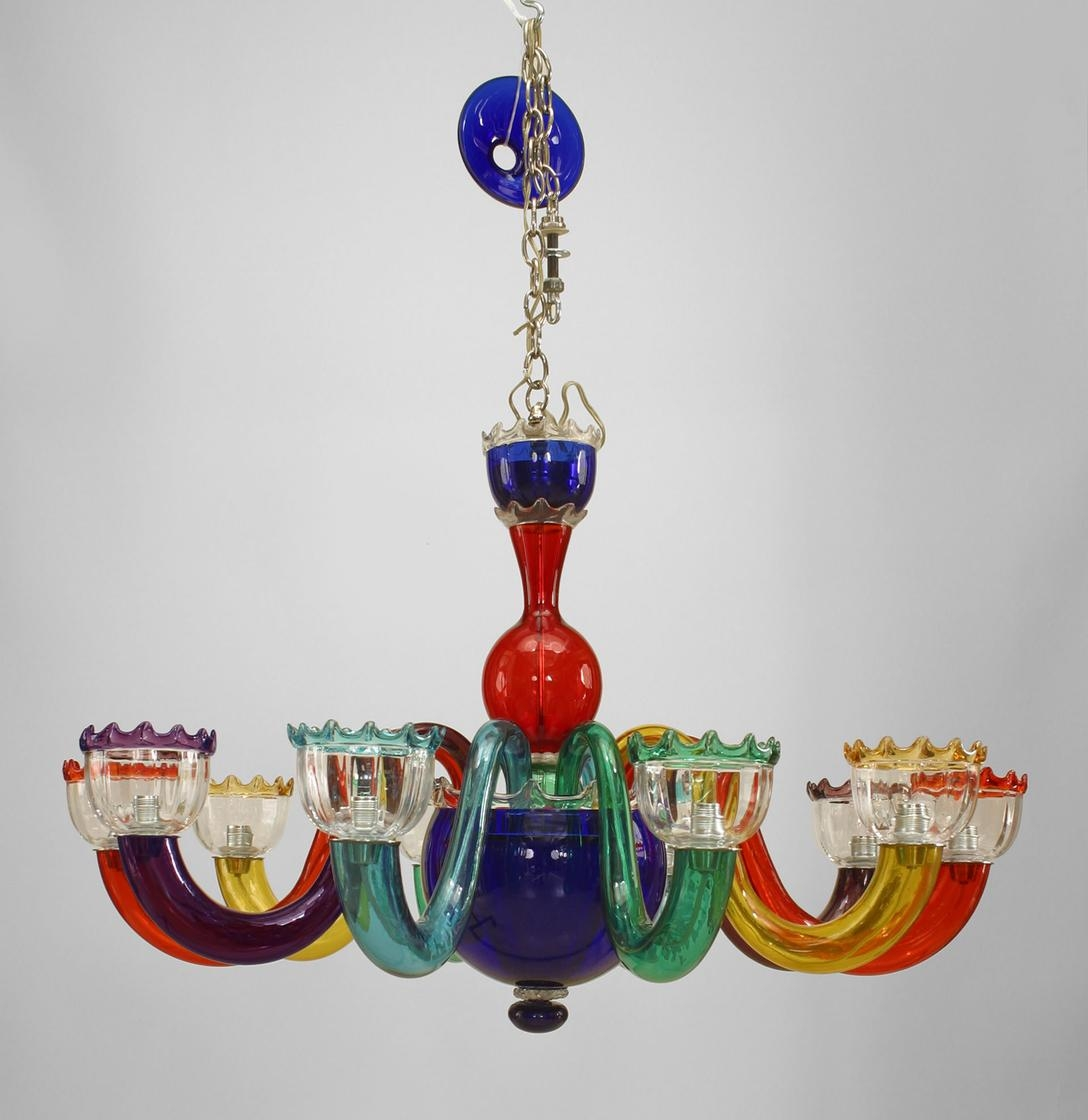 Chandelier Astonishing Colored Glass Gypsy Chandeliers Intended For Multi Image 5