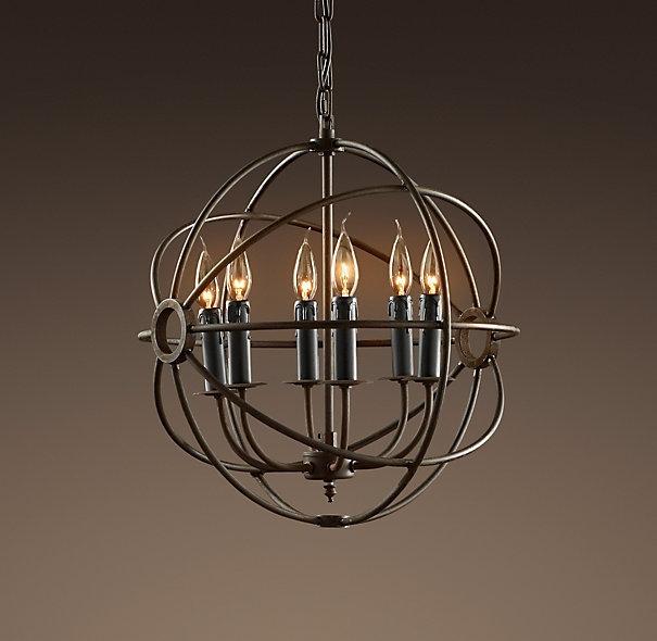 Chandelier Astonishing Globe Chandeliers Chandelier Light Globes For Metal Ball Chandeliers (Image 9 of 25)