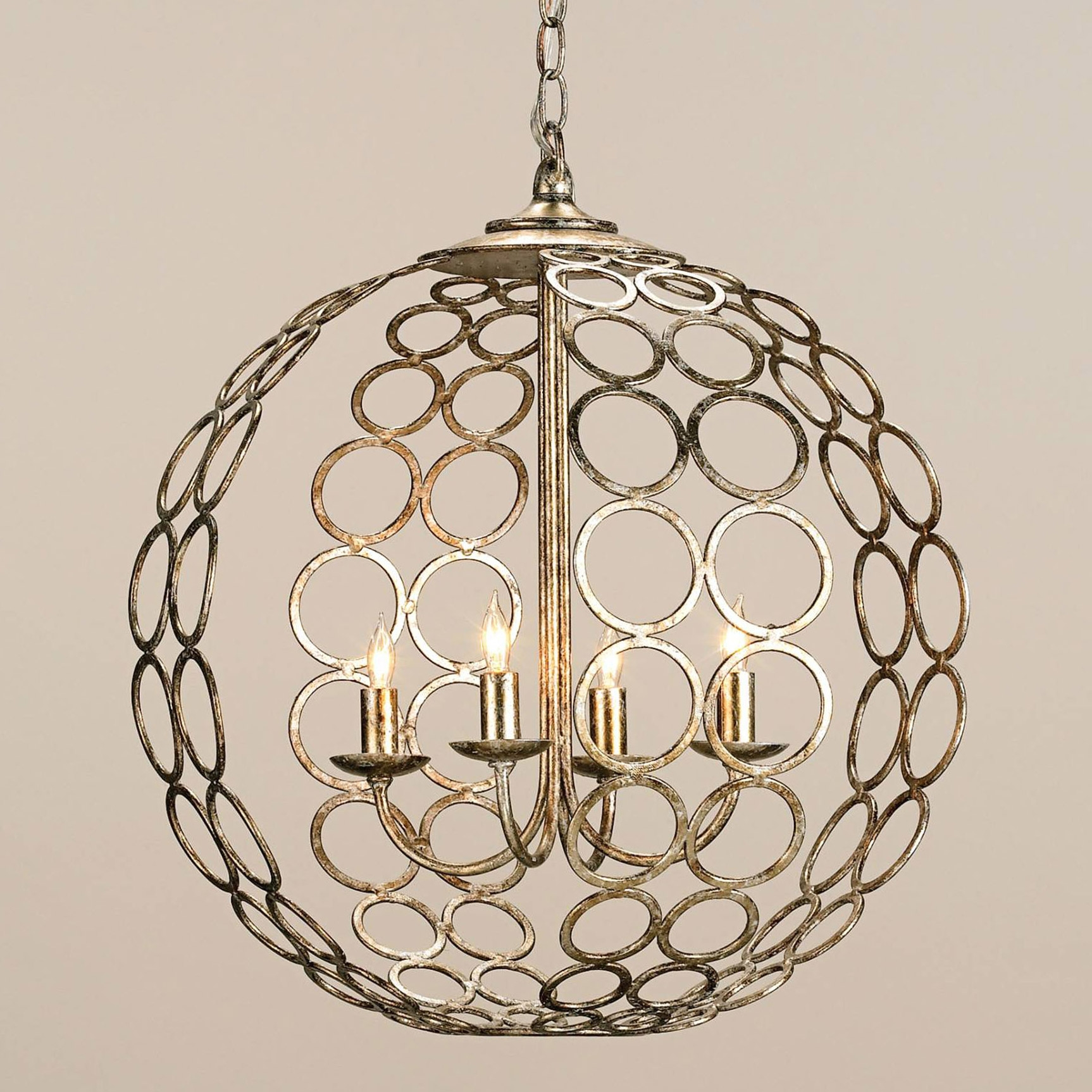 Chandelier Astonishing Iron Orb Chandelier Ideas Amazing Iron Throughout Metal Ball Candle Chandeliers (Image 13 of 25)