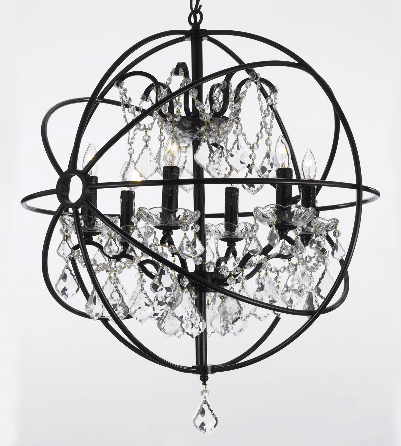 Chandelier Astonishing Iron Orb Chandelier Ideas Amazing Iron With Regard To Metal Ball Candle Chandeliers (Image 14 of 25)