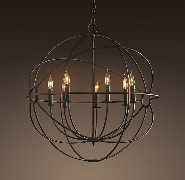 Chandelier Astonishing Iron Orb Chandelier Ideas Amazing Iron With Regard To Metal Ball Chandeliers (View 25 of 25)