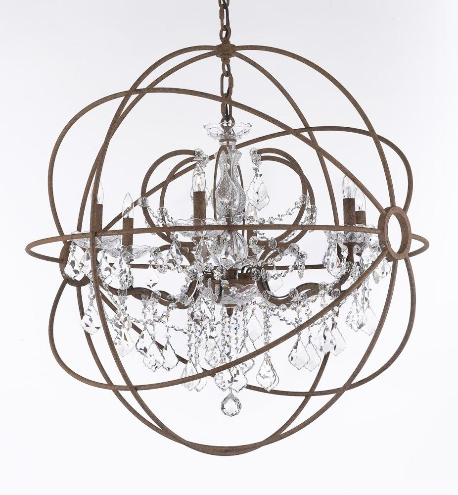 Chandelier Astonishing Iron Orb Chandelier Ideas Orb Chandelier Intended For Orb Chandeliers (Image 9 of 25)