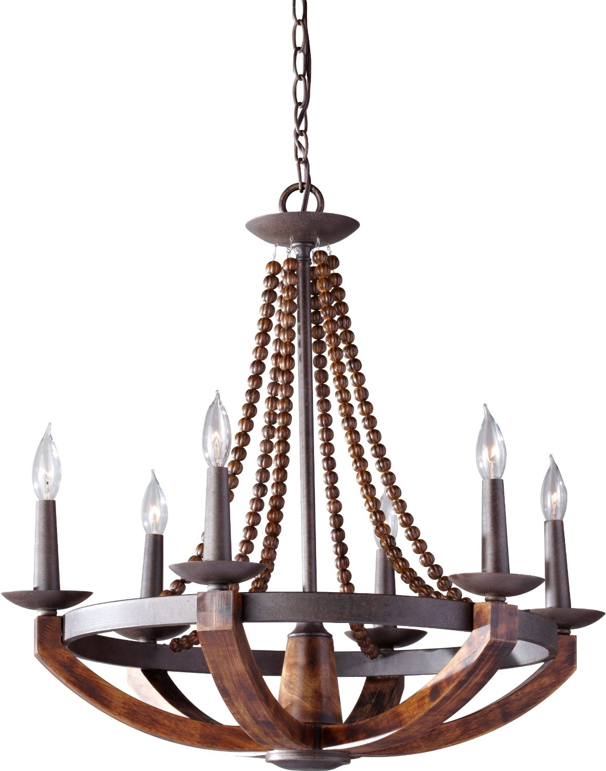 Chandelier Astounding Rustic Wrought Iron Chandelier Rustic Iron Regarding Metal Ball Candle Chandeliers (Image 15 of 25)