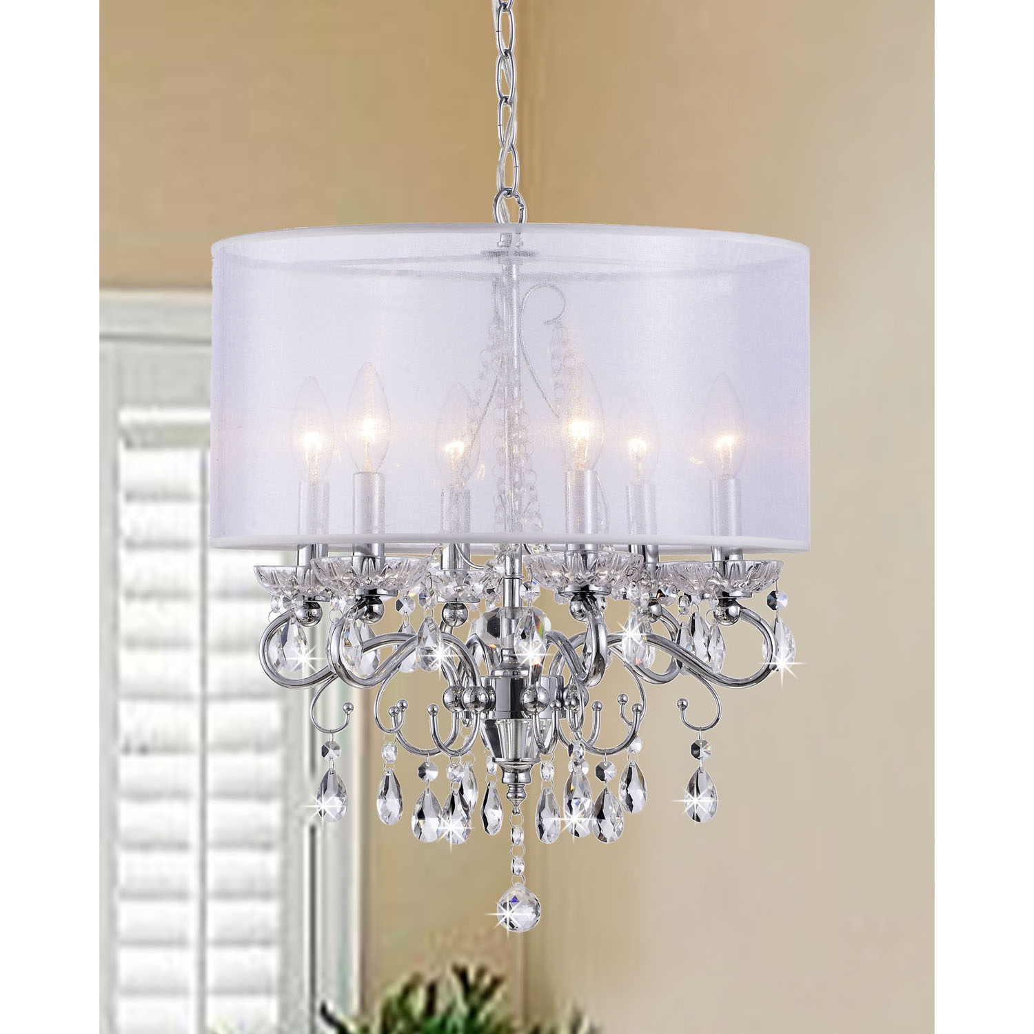 Chandelier Chandelier Hampton Light Polished Chrome Crystal With Throughout Chrome And Crystal Chandeliers (Image 10 of 25)