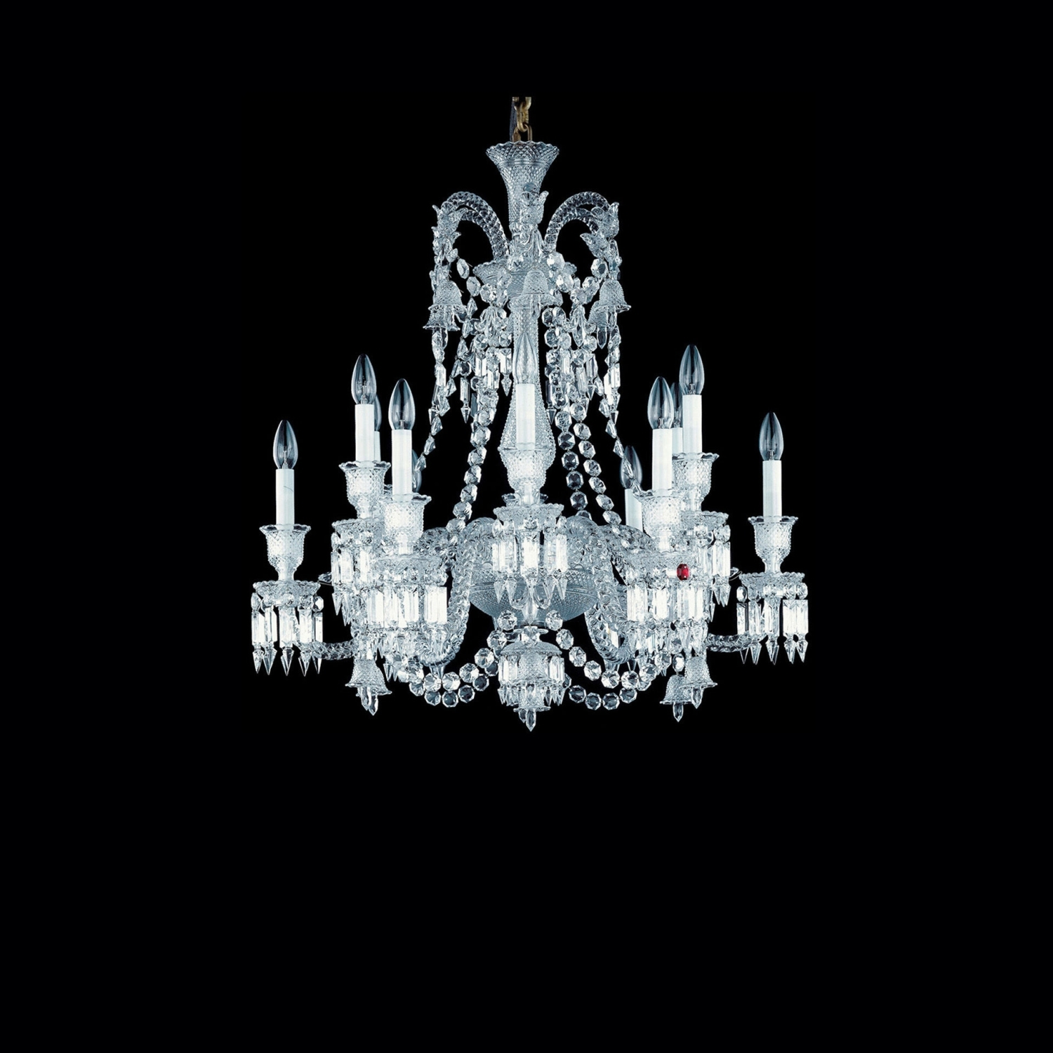 Chandelier Clear 12l Baccarat Zenith 2606555 With Short Chandelier Lights (Image 11 of 25)