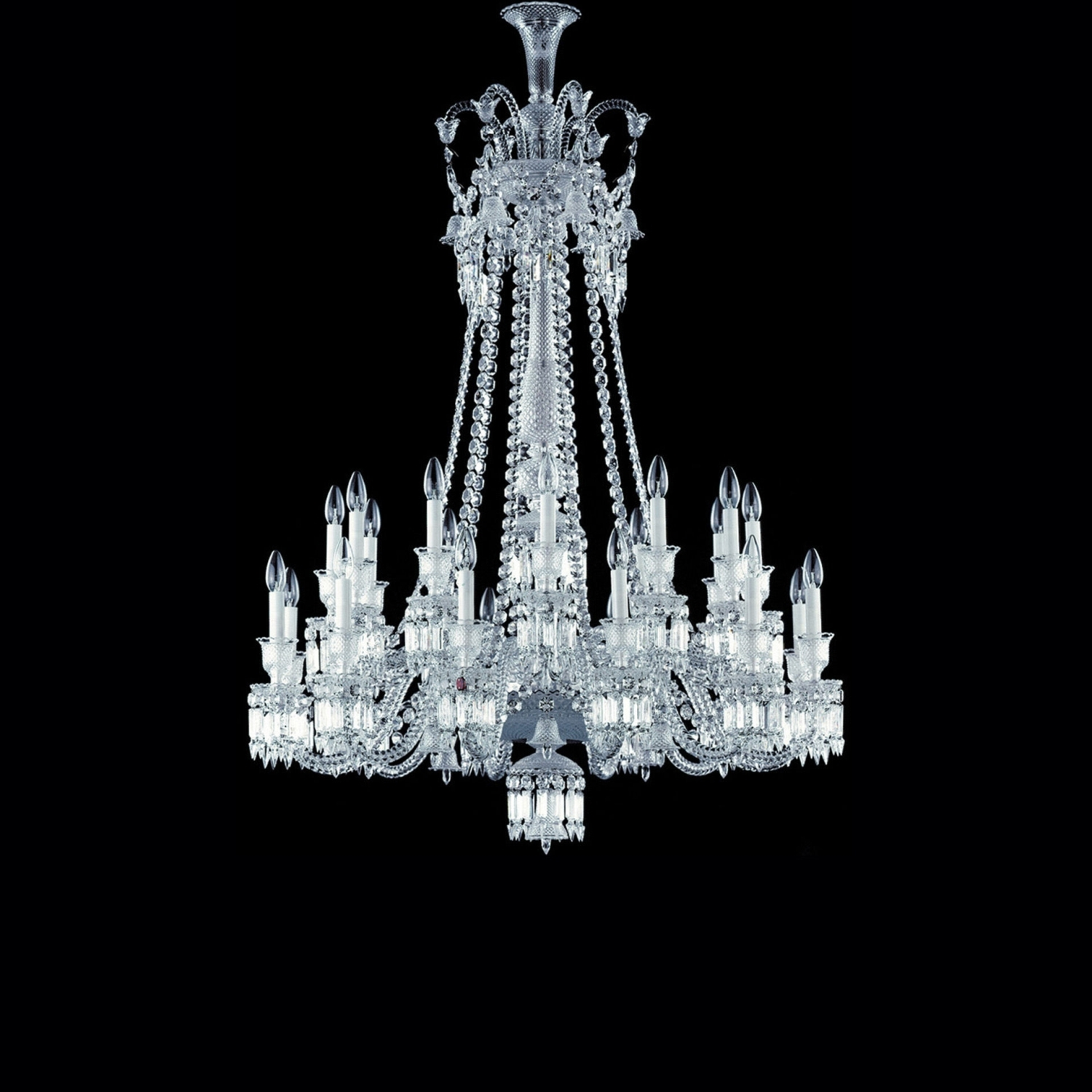 Chandelier Clear 24l Baccarat Zenith 2606575 Within Short Chandeliers (Image 9 of 25)
