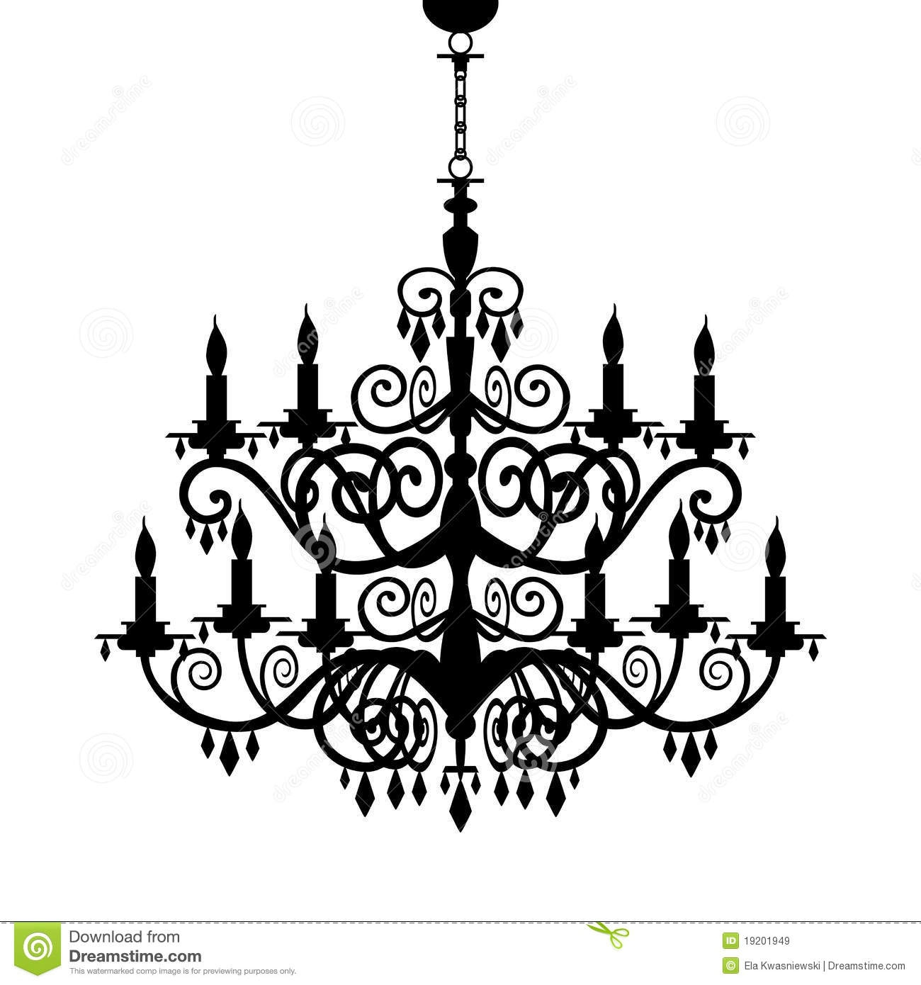 Chandelier Clip Art Elegant For Your Interior Decor Home With Within Clip On Chandeliers (View 9 of 25)