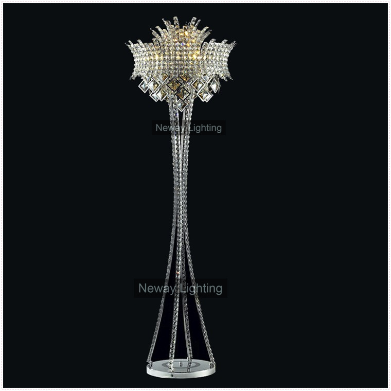 Chandelier Floor Lamp Modern Crystal Chandelier Floor Lamp Modern Within Crystal Chandelier Standing Lamps (Image 5 of 25)