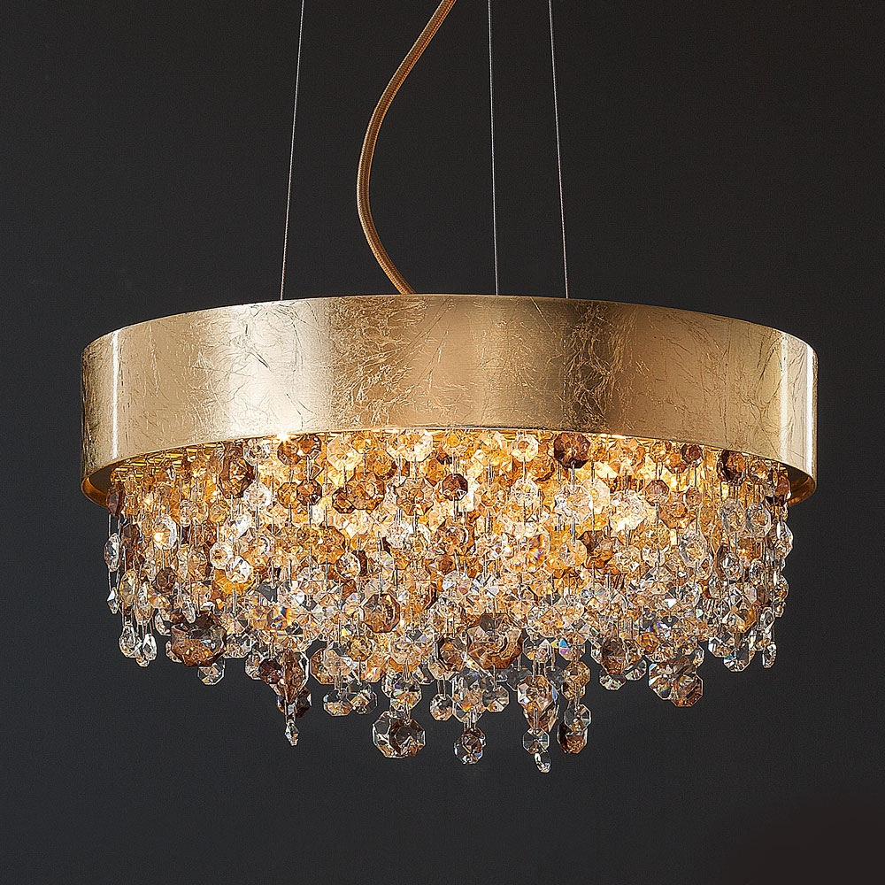 Chandelier Glamorous Contemporary Chandelier Modern Chandeliers Regarding Crystal Gold Chandeliers (Image 6 of 25)