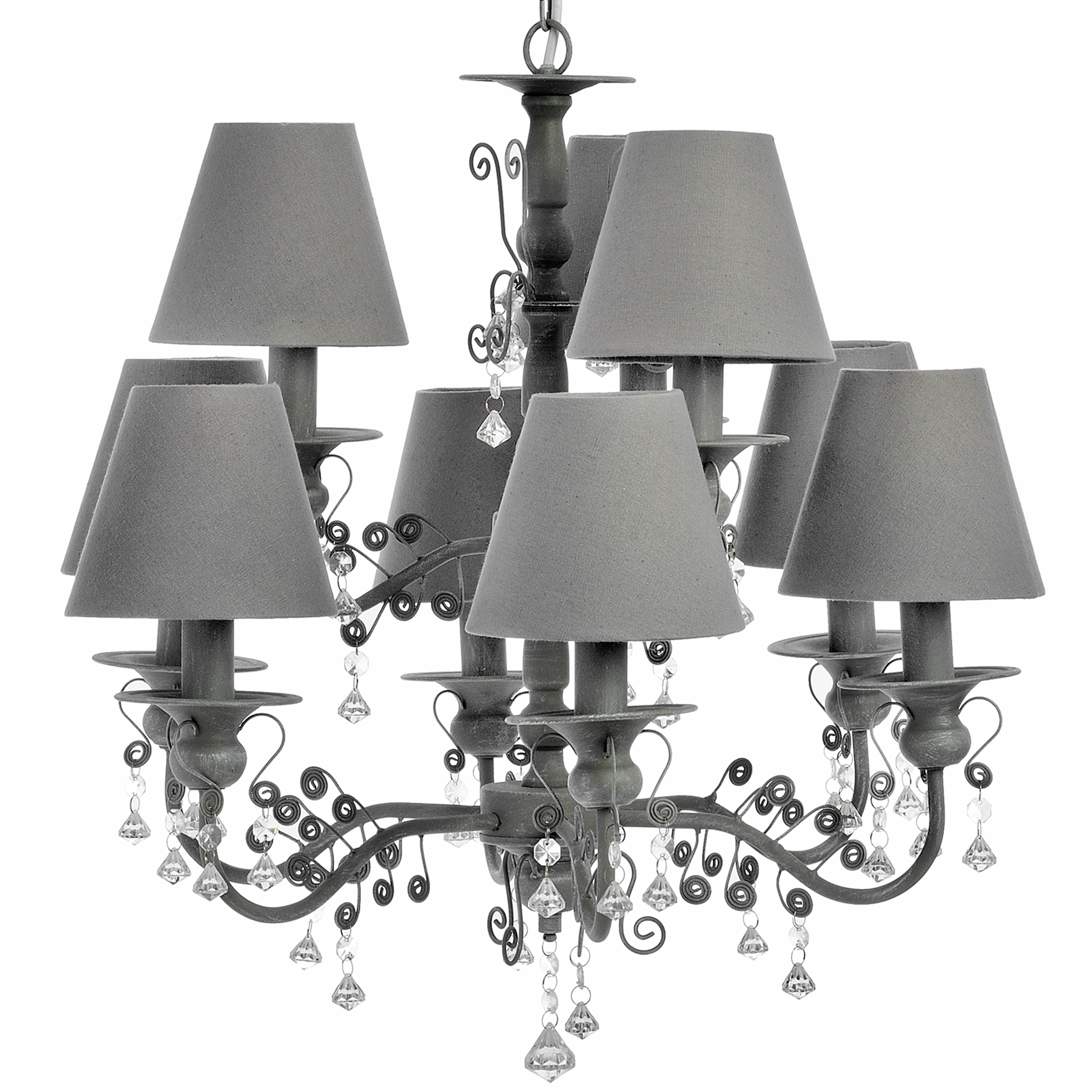 Chandelier Grey Chandelier Shades Light Gray Shadesgrey Lamp And With Regard To Grey Chandeliers (Image 17 of 25)