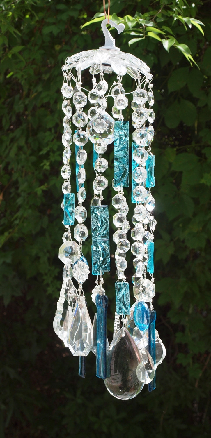 Chandelier Idea Love The Turquoise Home Decor Pinterest With Turquoise Chandelier Crystals (Image 11 of 25)