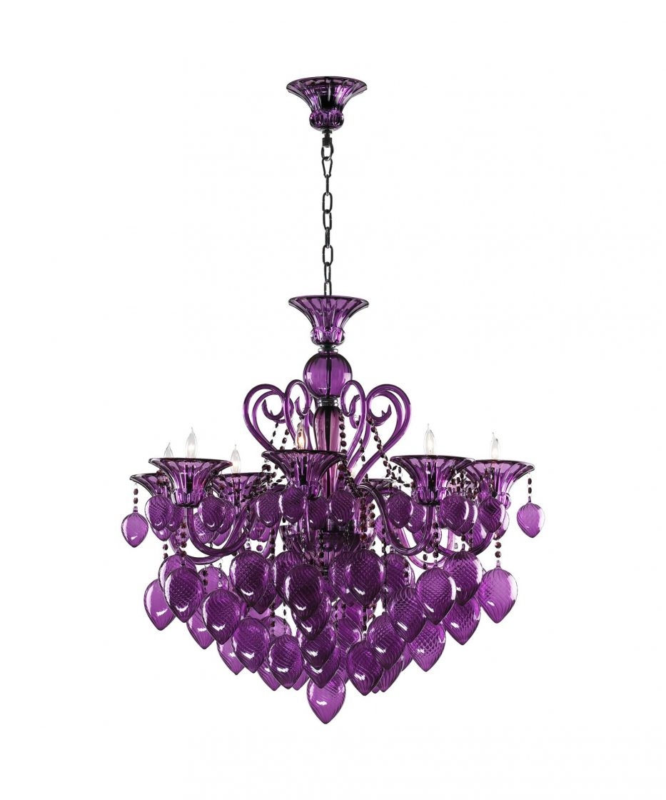 Chandelier Literarywondrous Purple Chandelier Lighting Pictures Within Purple Crystal Chandelier Lights (Image 11 of 25)