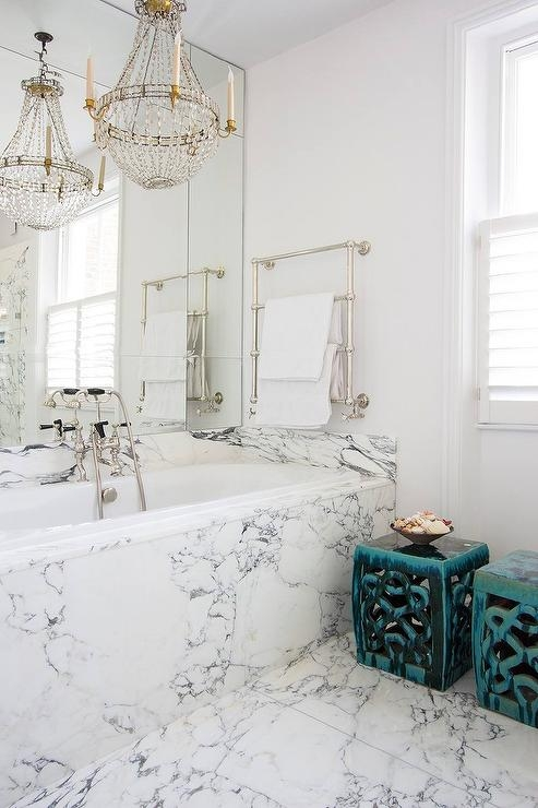 Chandelier Over Bathtub Design Ideas In Wall Mounted Bathroom Chandeliers (Image 8 of 25)