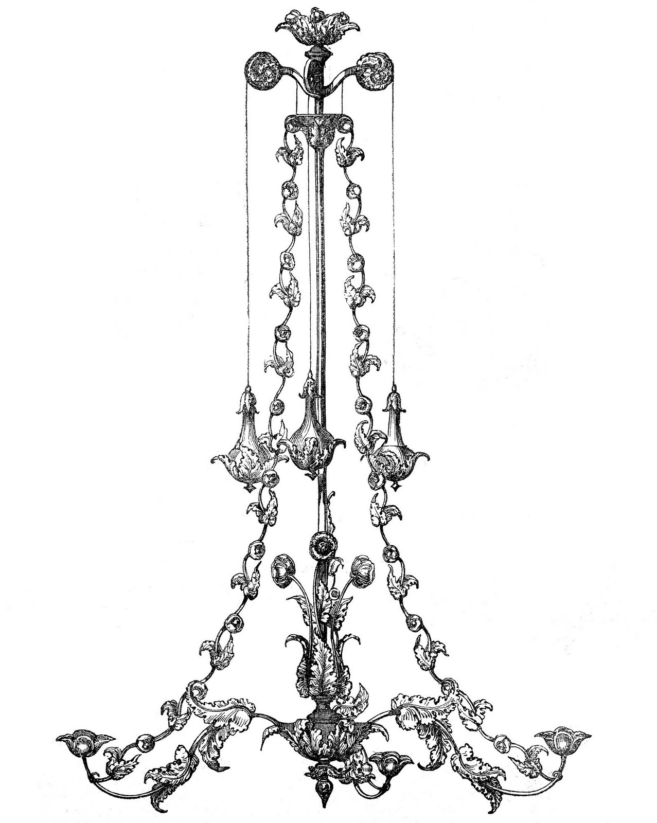 Chandelier Silhouette Clip Art Chandeliers Design Clipartandscrap Within Clip On Chandeliers (Image 9 of 25)