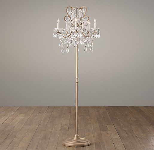 Chandelier Standing Lamp Campernel Designs Pertaining To Crystal Chandelier Standing Lamps (Image 7 of 25)