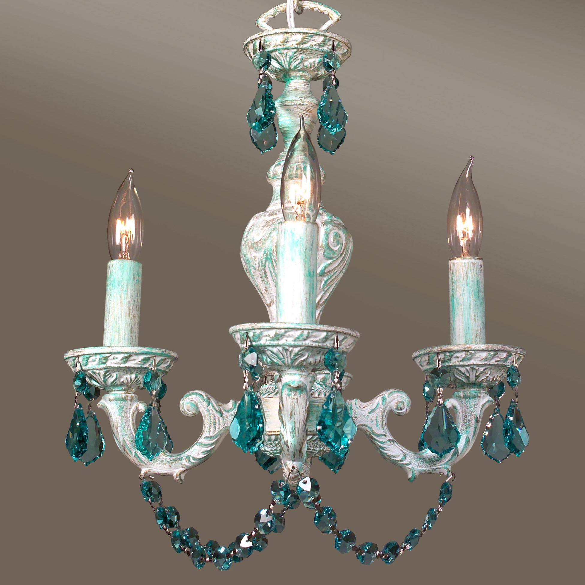 Chandelier Stunning Colored Chandelier Terrific Colored Inside Turquoise Chandelier Crystals (Image 12 of 25)