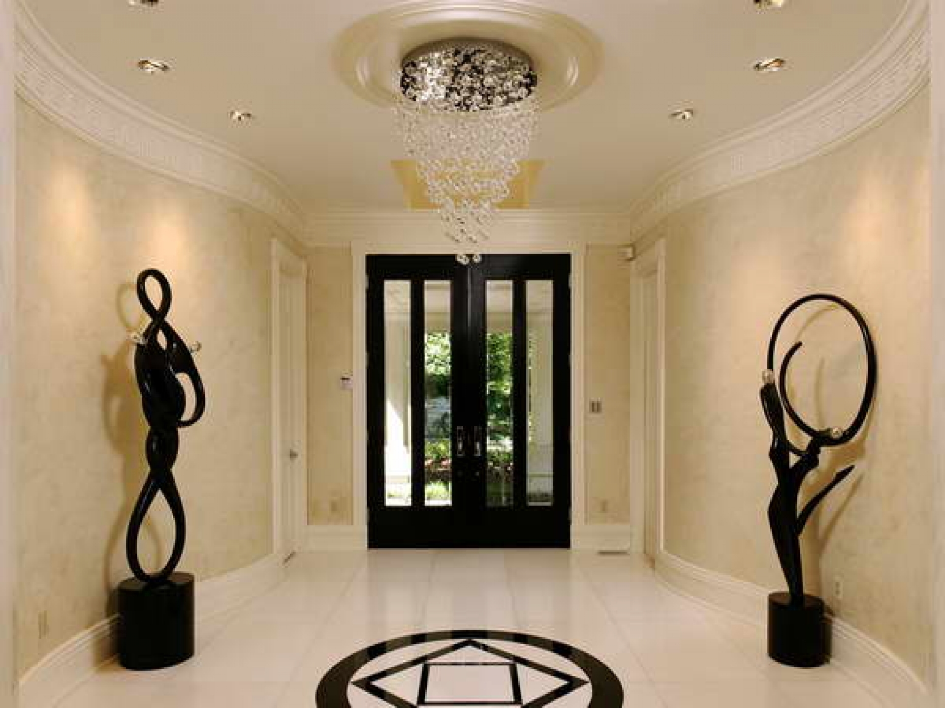Chandelier Stunning Contemporary Chandeliers For Foyer In Hallway Chandeliers (View 10 of 25)