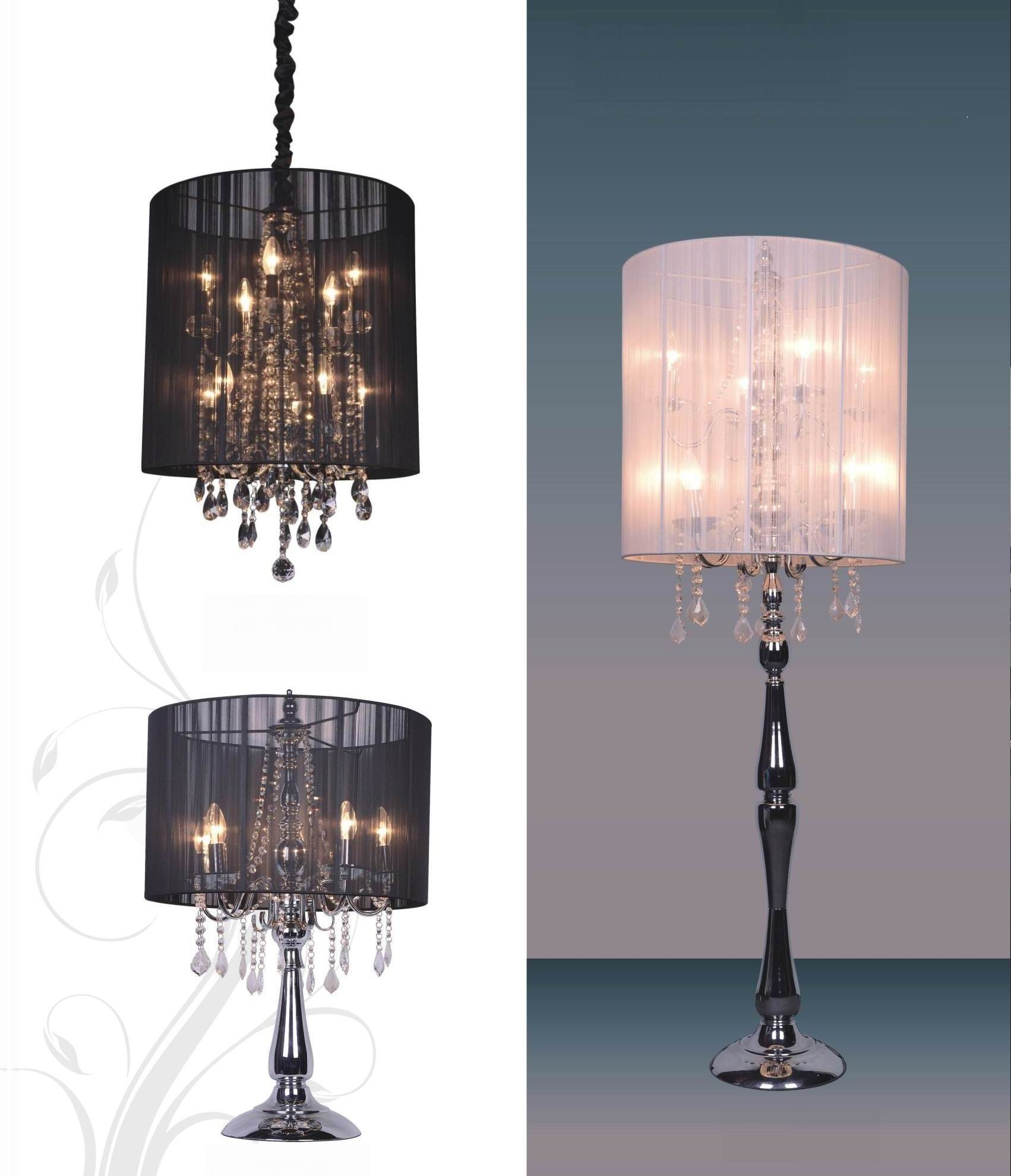 Chandelier Tadpoles In Blacker Table Lamp With Drum Shade In Mini Chandelier Table Lamps (Image 10 of 25)