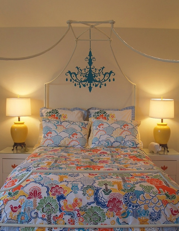 Chandelier Wall Sticker Transitional Bedroom Turquoise La Regarding Turquoise Bedroom Chandeliers (Image 24 of 25)